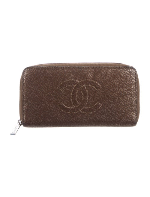 Chanel Timeless L-Gusset Zip Wallet Brown