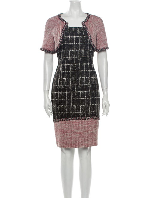 Chanel 2014 Tweed Pattern Dress Set Black