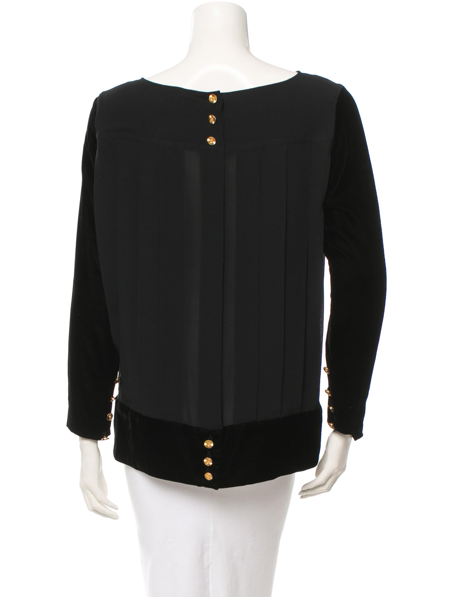 chanel vintage blouse clothing cha52293 the realreal