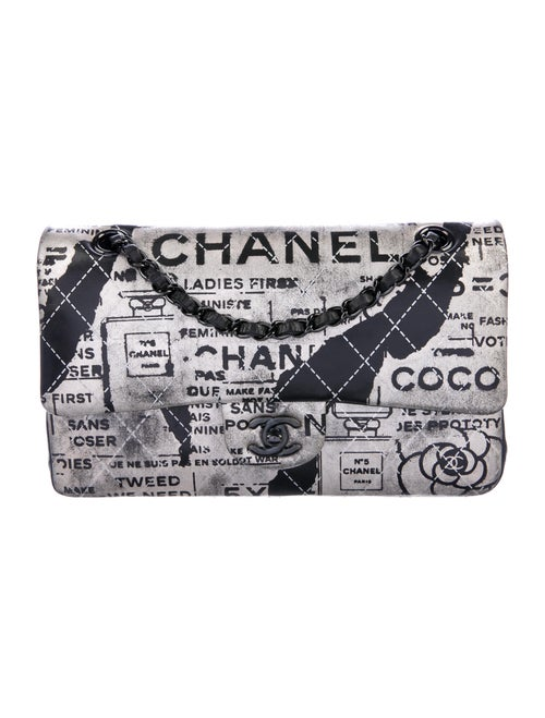 Chanel Medium Graffiti Newspaper Double Flap Bag M