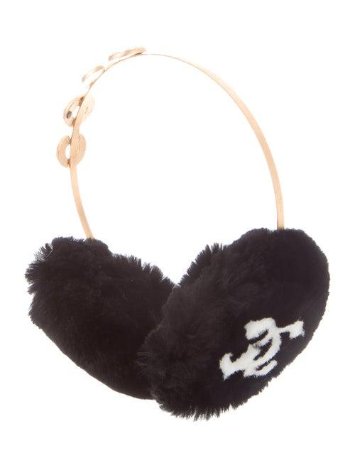 Chanel Fur Coco Earmuffs w/ Tags Black