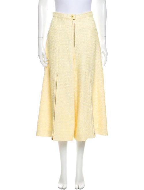 Chanel 2019 Wide Leg Pants Yellow