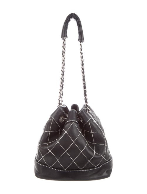 Chanel Surpique Bucket Bag Black