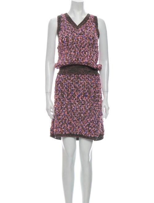 Chanel 2015 Bouclé Knee-Length Skirt Set Skirt Set