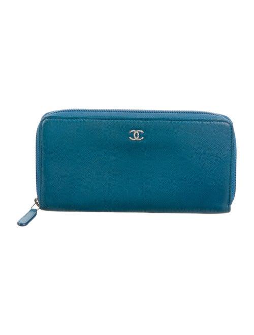 Chanel Sevruga L-Gusset Wallet silver