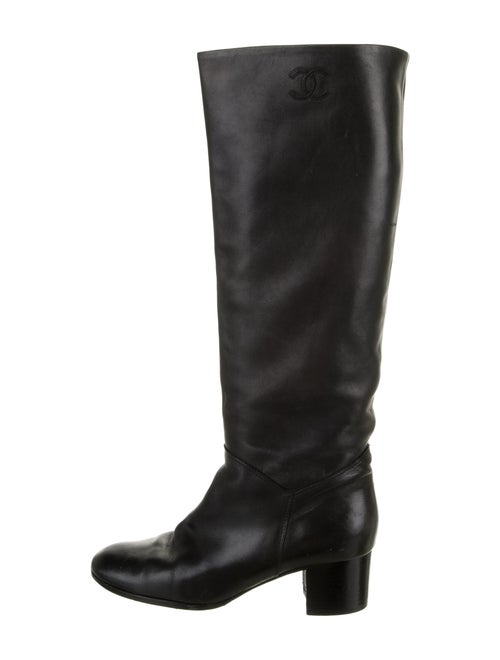 Chanel Leather Riding Boots Black