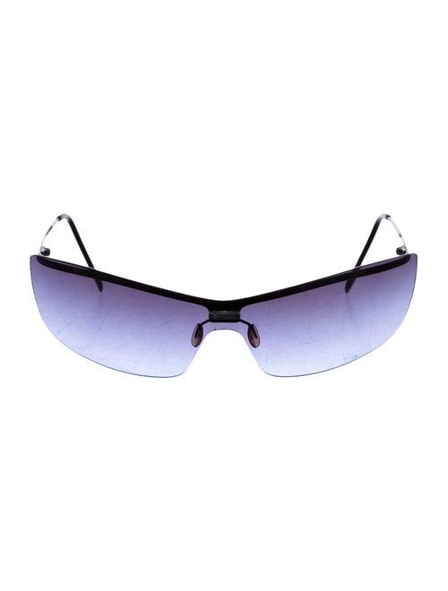 Chanel Rimless Gradient Sunglasses black