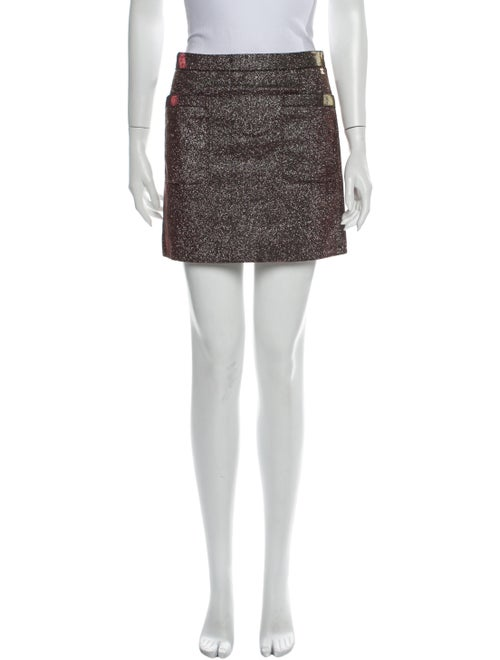 Chanel 2010 Mini Skirt Metallic - image 1