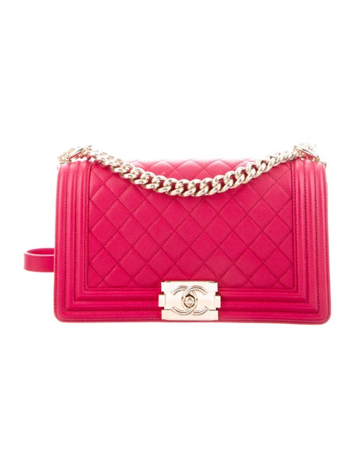 Chanel Quilted Medium Boy Bag Pink - image 1