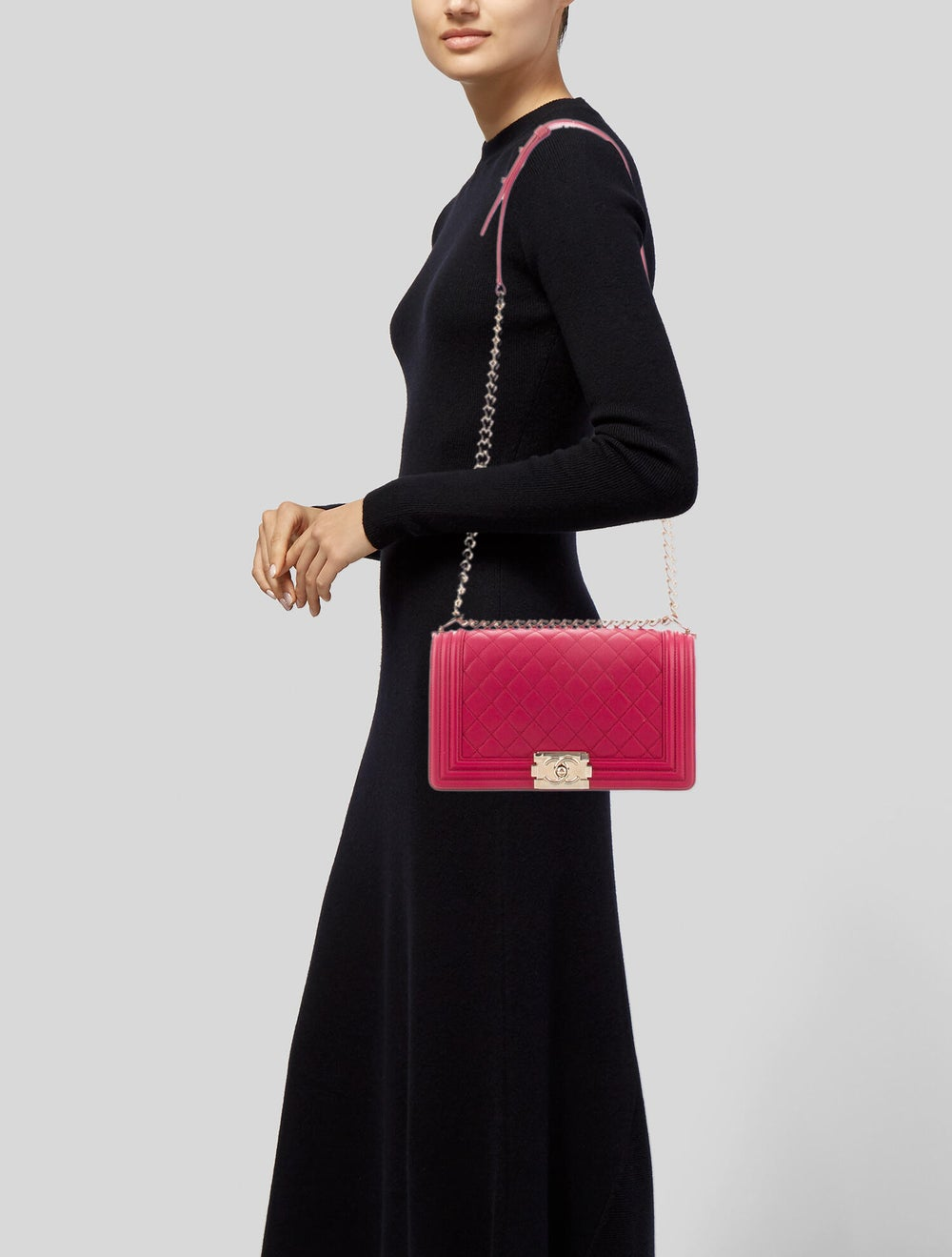Chanel Quilted Medium Boy Bag Pink - image 2