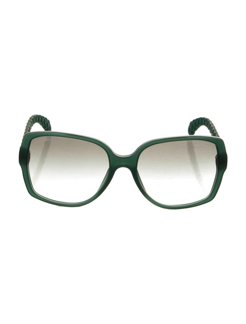 Chanel Oversize Gradient Sunglasses Green