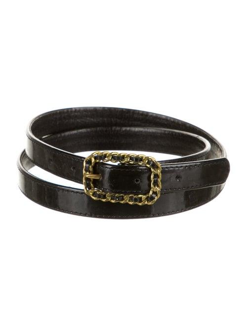 Chanel Vintage 1995 Waist Belt Black