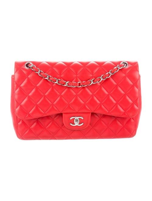 Chanel Classic Jumbo Double Flap Bag Red - image 1