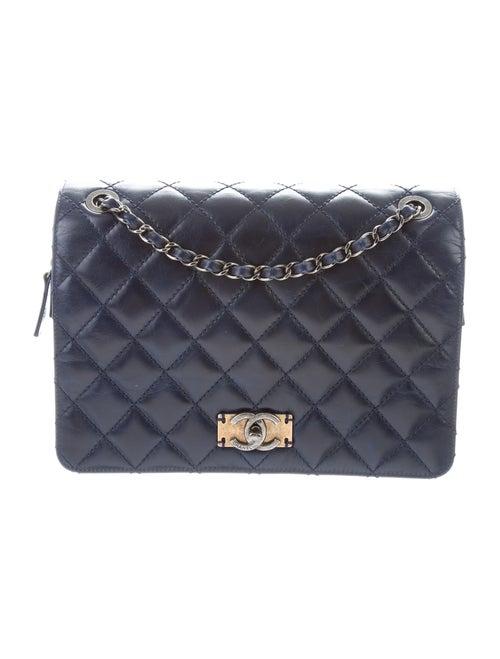 Chanel Day Trip Flap Bag Blue - image 1