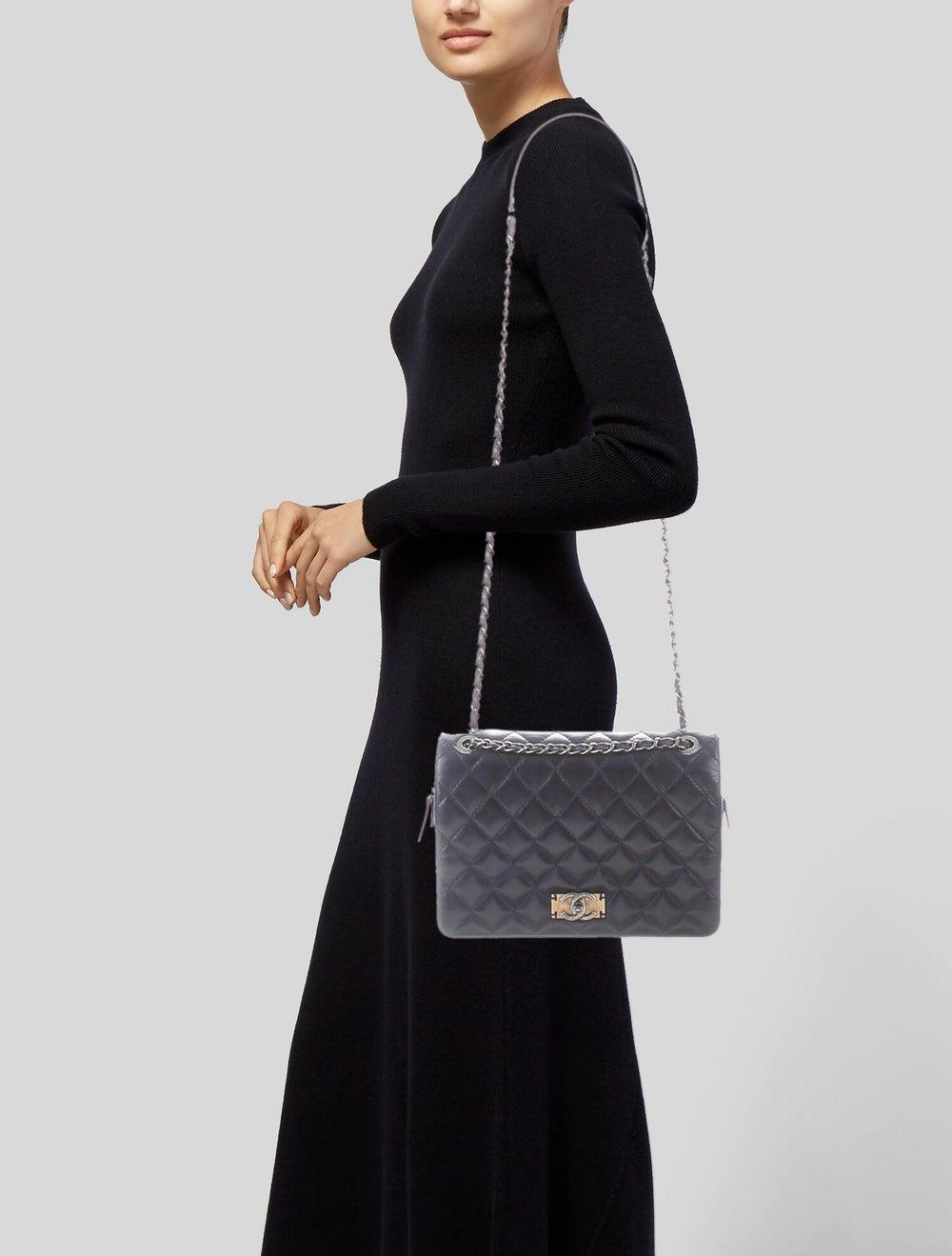 Chanel Day Trip Flap Bag Blue - image 2