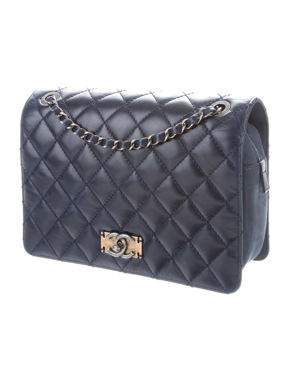 Chanel Day Trip Flap Bag Blue - image 3