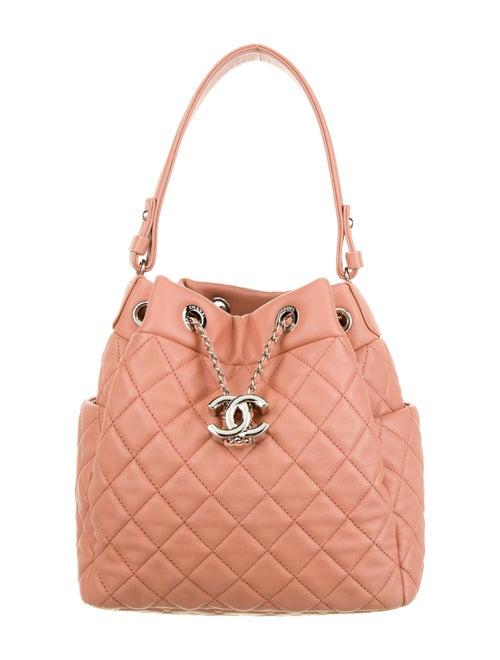Chanel Small Chain Bucket Bag Pink