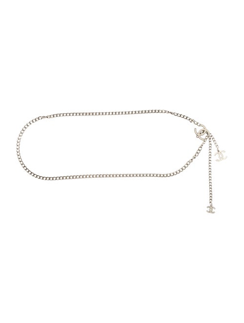 Chanel CC Chain-Link Belt Silver