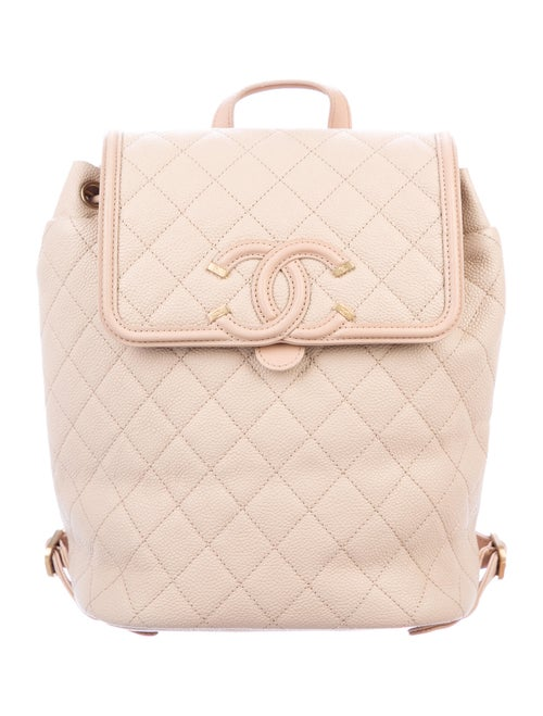 Chanel CC Filigree Backpack Gold