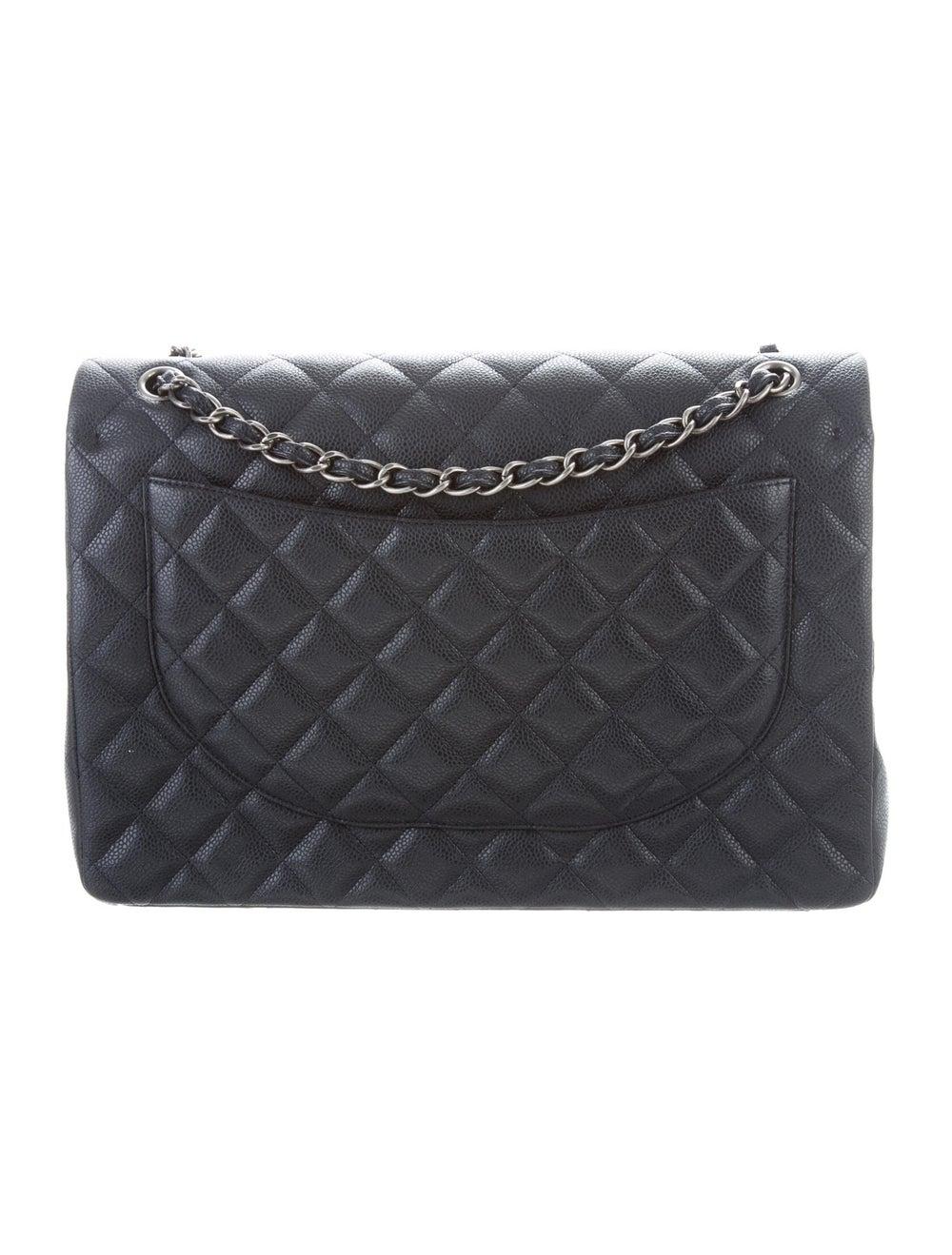Chanel Classic Maxi Double Flap Bag Blue - image 4