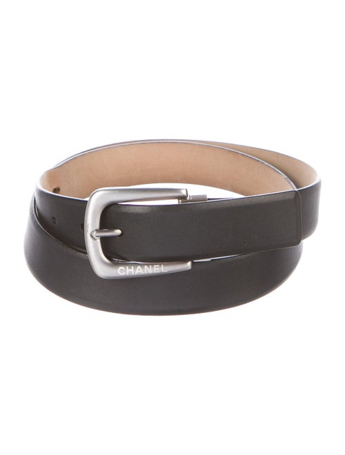 Chanel Leather Belt Leather Belt Black