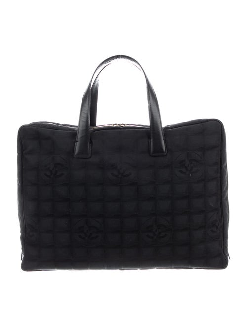 Chanel Travel Ligne Laptop Bag Black