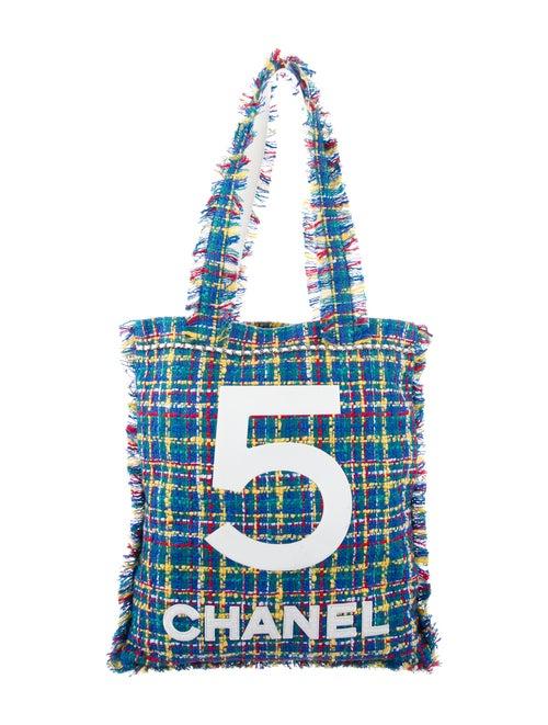 Chanel Large Tweed Shopping Bag Blue - image 1