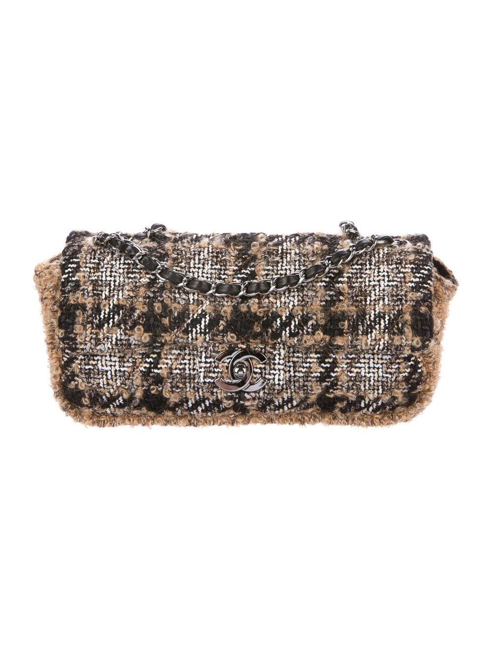 Chanel Medium Tweed Flap Bag Brown - image 1