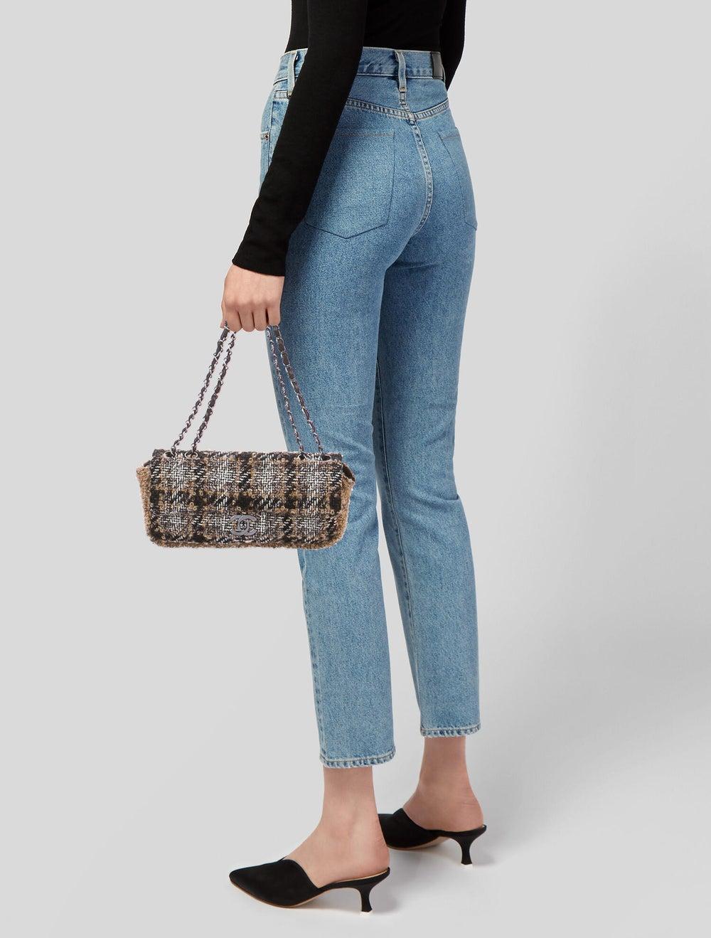 Chanel Medium Tweed Flap Bag Brown - image 2
