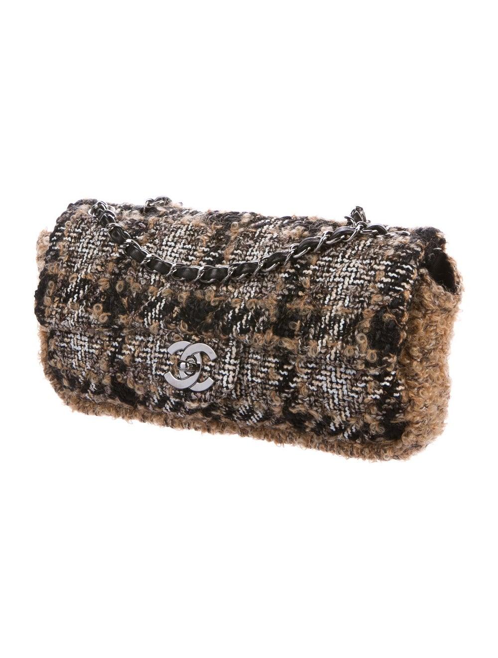 Chanel Medium Tweed Flap Bag Brown - image 3