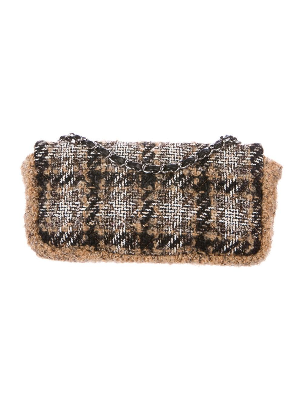 Chanel Medium Tweed Flap Bag Brown - image 4