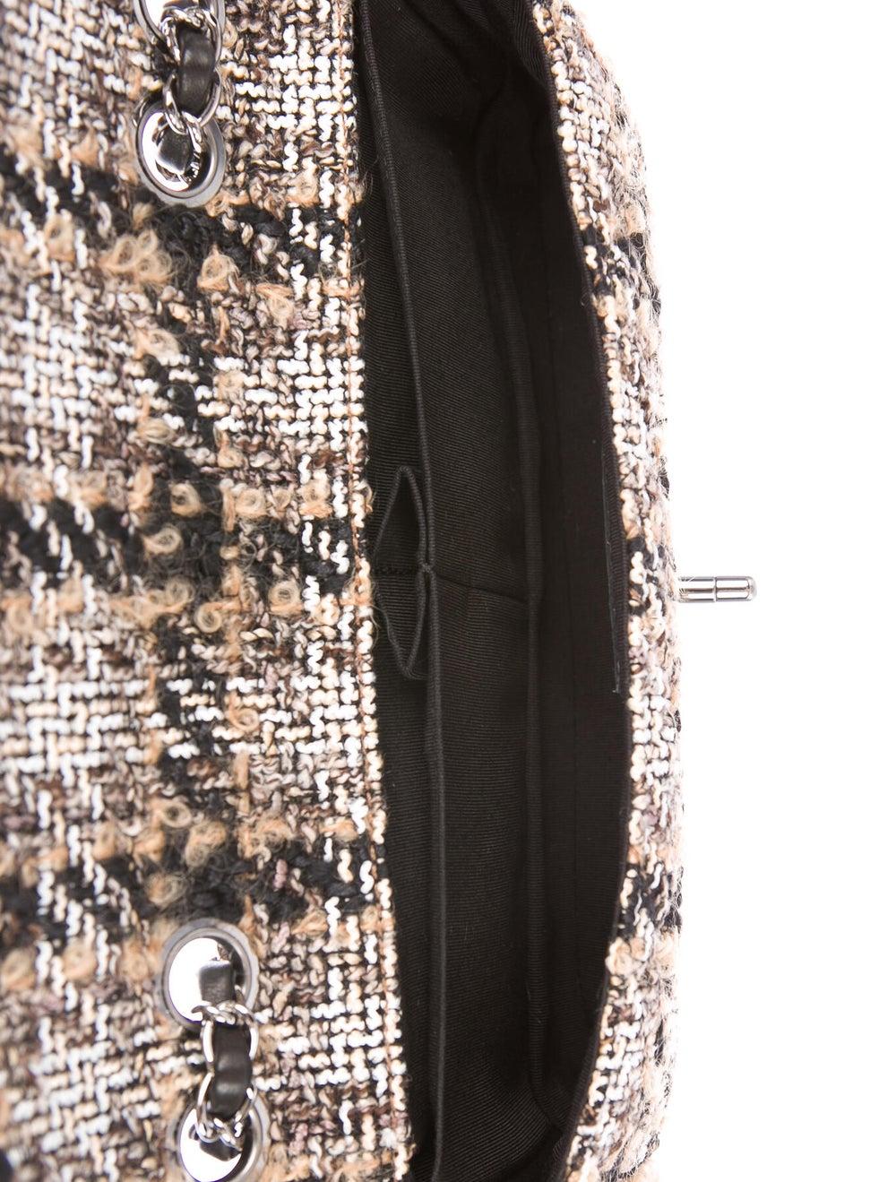 Chanel Medium Tweed Flap Bag Brown - image 5