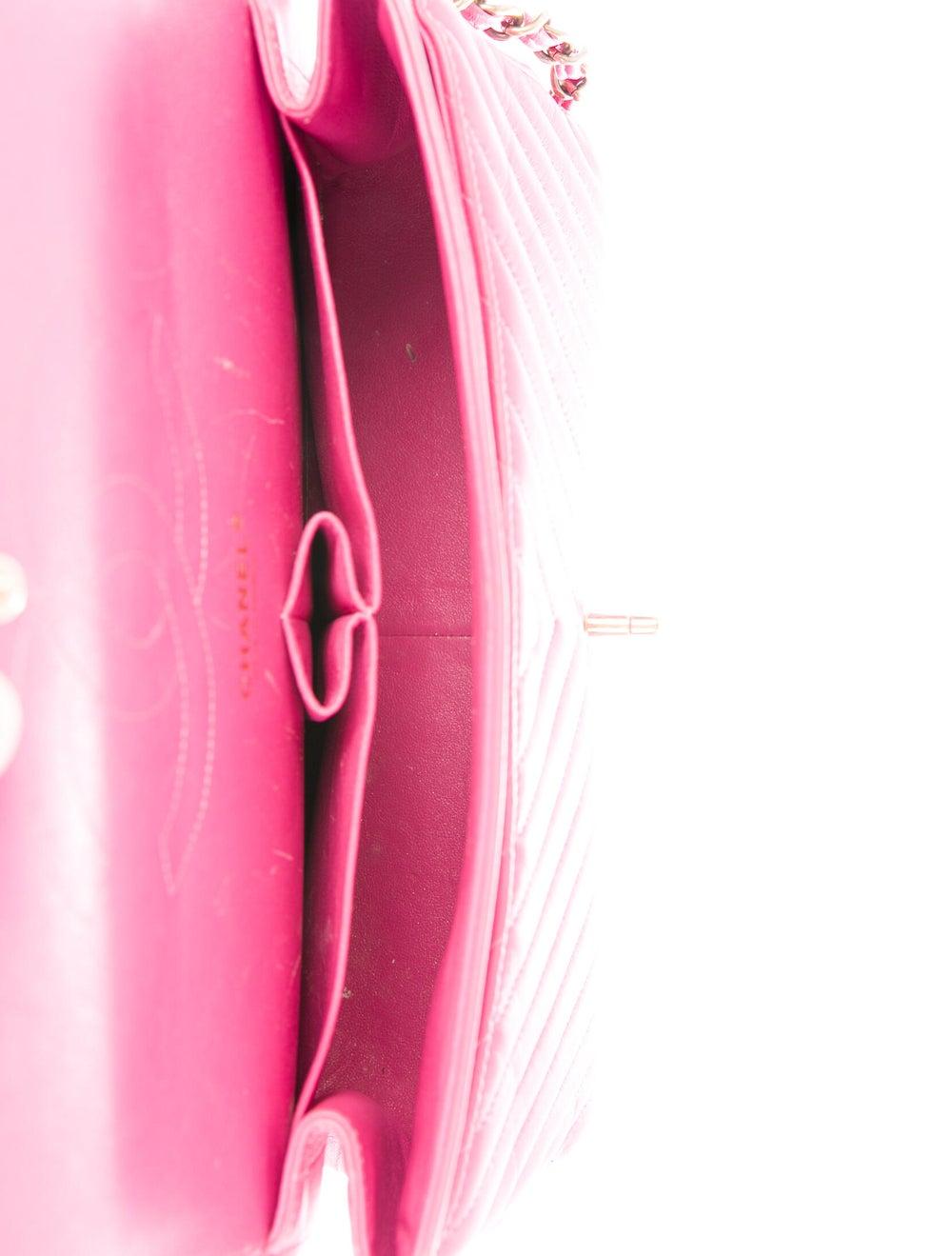 Chanel Chevron Jumbo Classic Double Flap Bag Pink - image 5