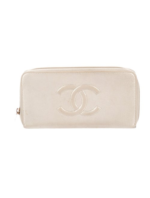 Chanel Timeless L-Gusset Zip Wallet Metallic