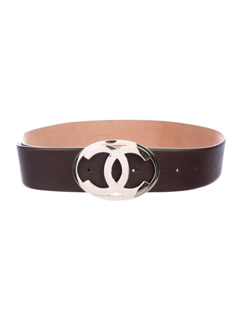 Chanel Leather Belt Brown