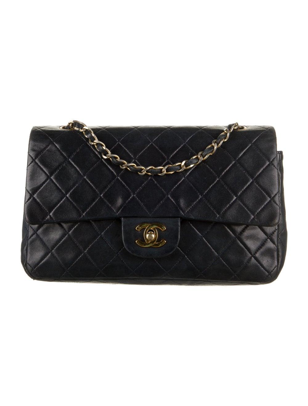 Chanel Vintage Medium Double Flap Bag Blue - image 1