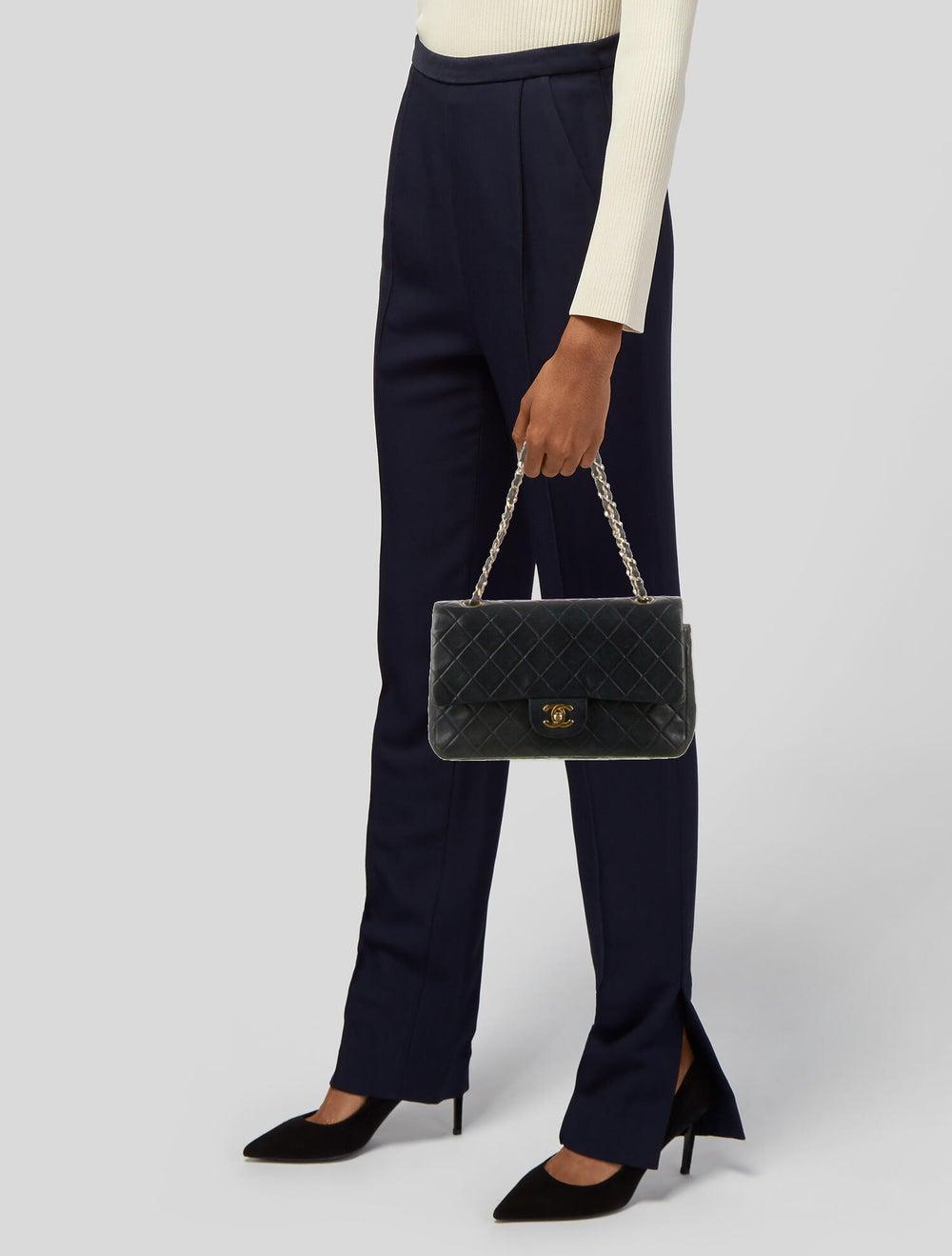 Chanel Vintage Medium Double Flap Bag Blue - image 2