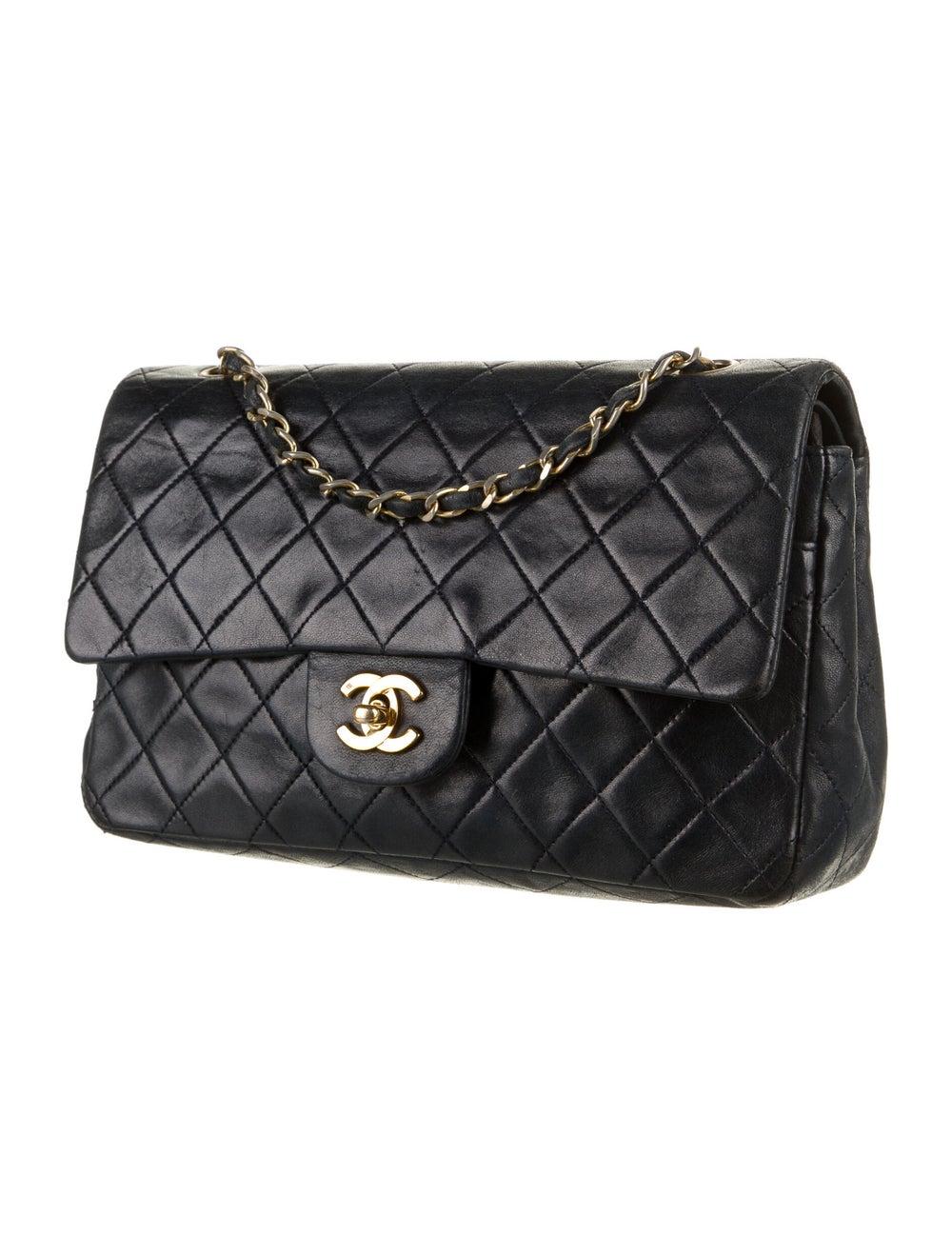 Chanel Vintage Medium Double Flap Bag Blue - image 3