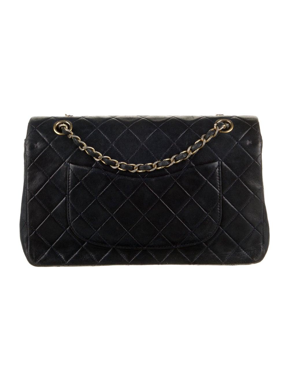Chanel Vintage Medium Double Flap Bag Blue - image 4