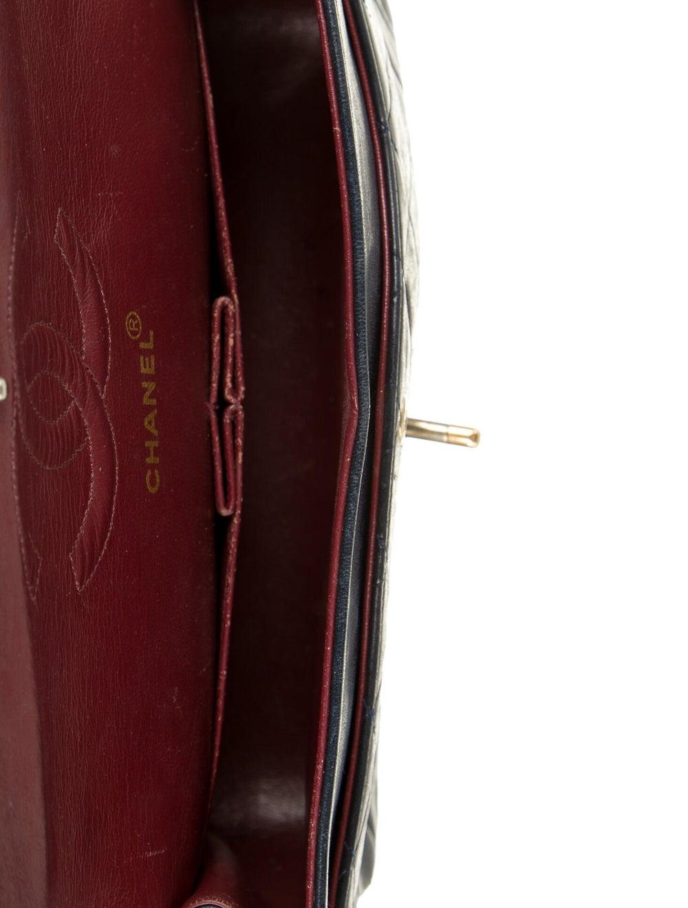 Chanel Vintage Medium Double Flap Bag Blue - image 5