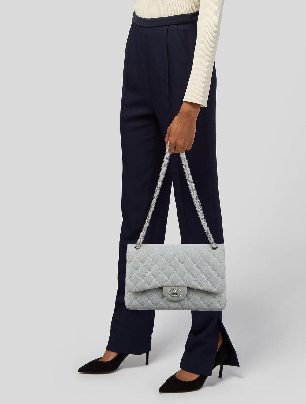 Chanel Classic Jumbo Double Flap Bag Blue - image 2