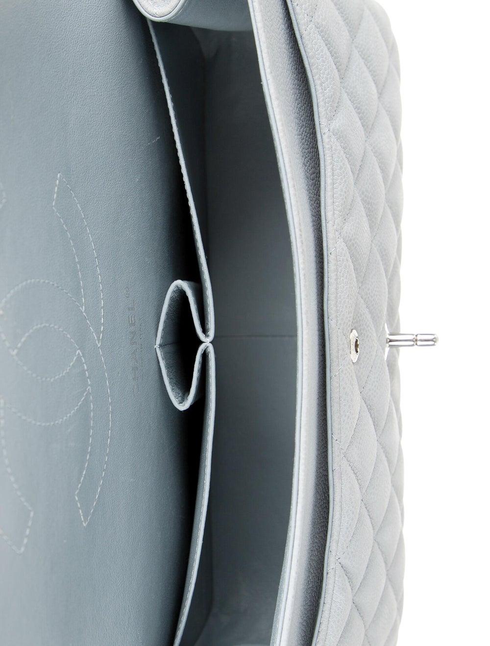 Chanel Classic Jumbo Double Flap Bag Blue - image 5
