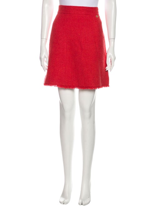 Chanel 2010 Mini Skirt Red