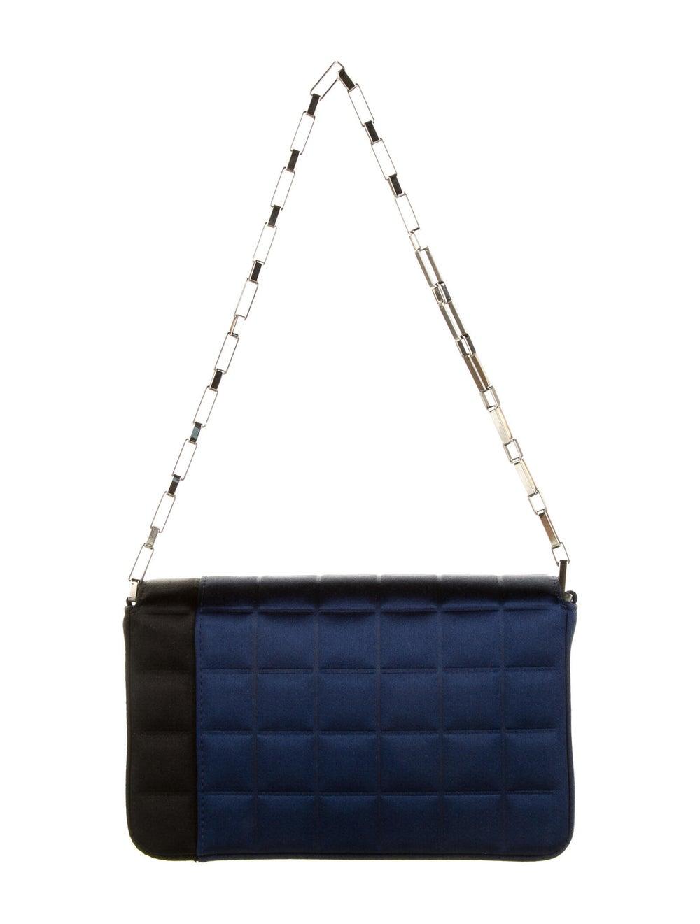 Chanel Satin Square Quilt Flap Bag Blue - image 4