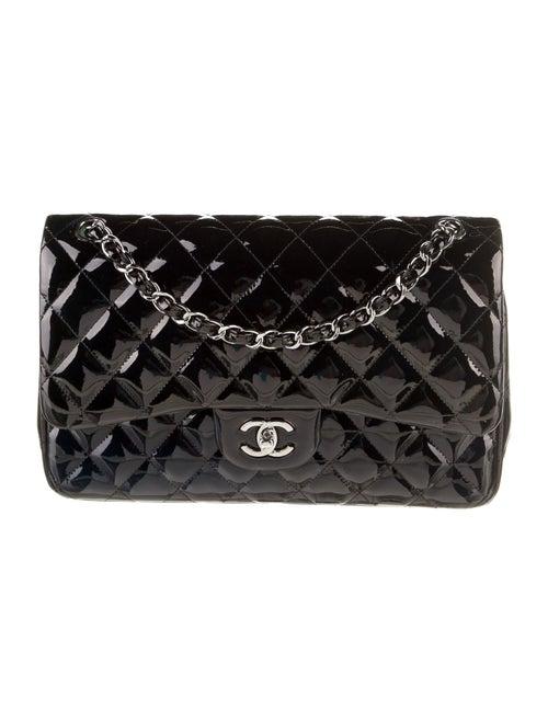 Chanel Classic Jumbo Patent Double Flap Bag Blue - image 1