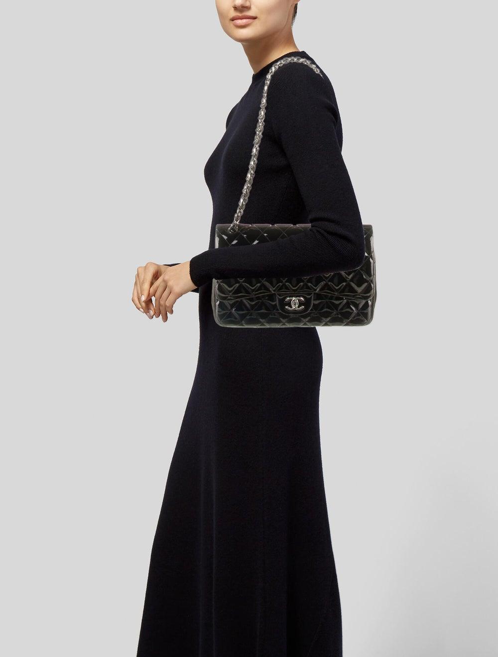 Chanel Classic Jumbo Patent Double Flap Bag Blue - image 2