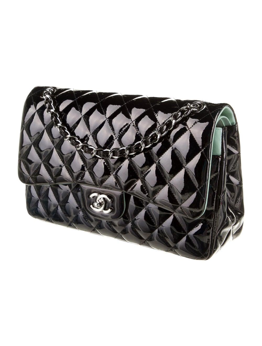 Chanel Classic Jumbo Patent Double Flap Bag Blue - image 3