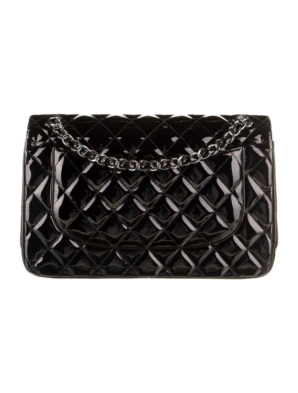Chanel Classic Jumbo Patent Double Flap Bag Blue - image 4