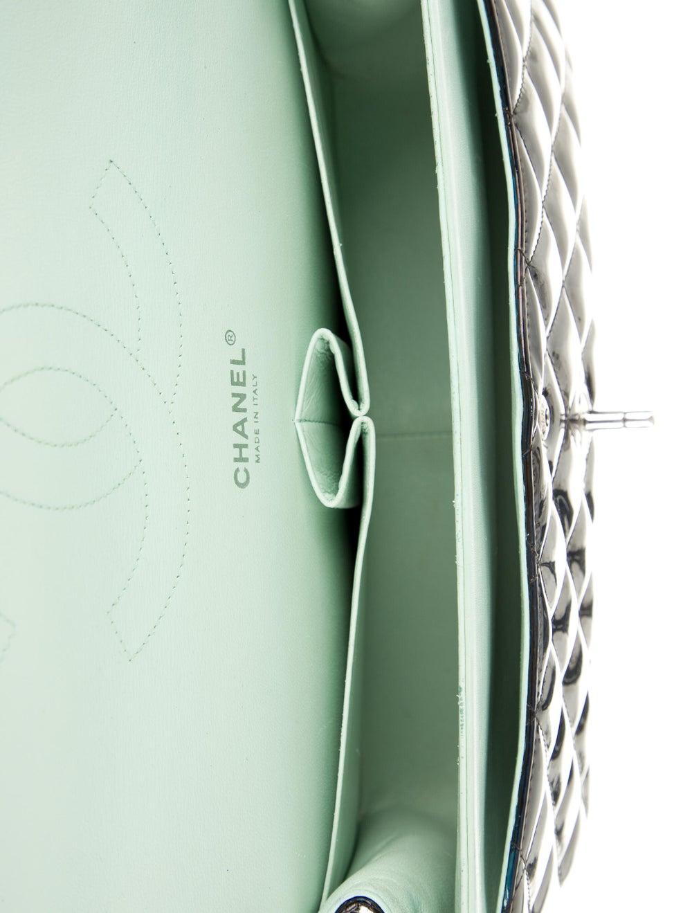 Chanel Classic Jumbo Patent Double Flap Bag Blue - image 5
