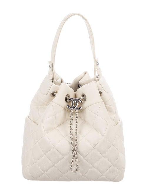 Chanel 2018 Small Chain Bucket Bag Silver